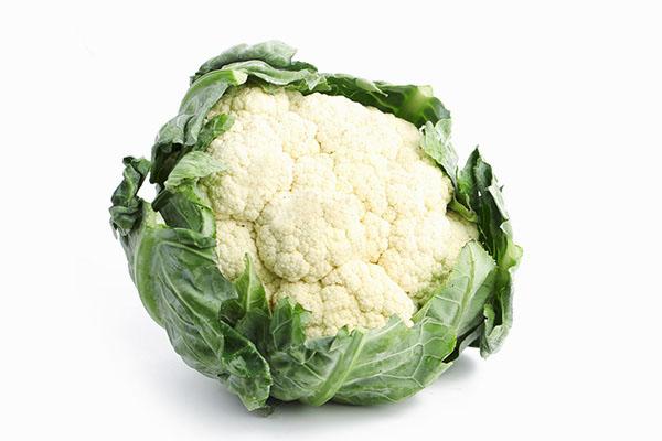 bông cải trắng là thực phẩm ít calo