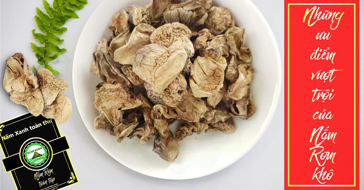 ưu điểm nấm rơm sấy khô