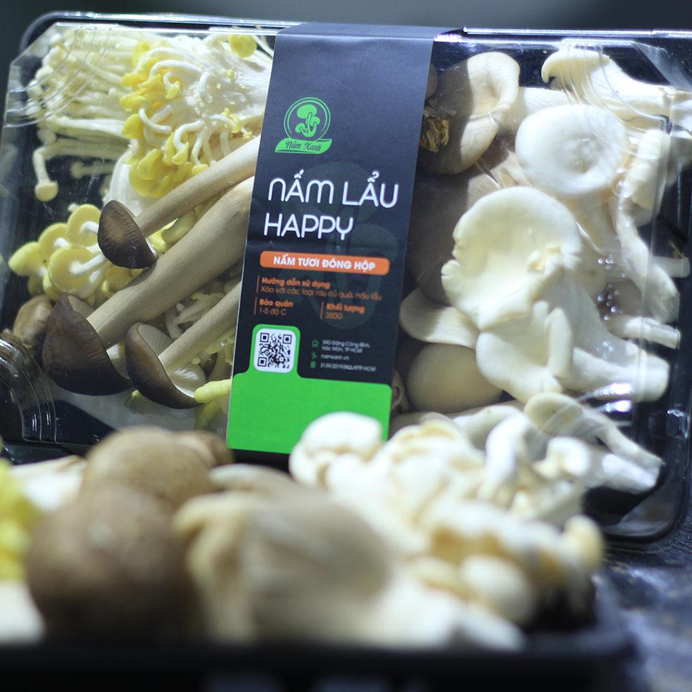 khay nấm ăn lẩu happy