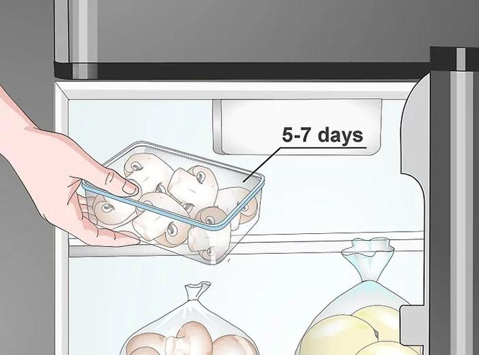 Bảo quản và sử dụng nấm tốt nhất trong 5-7 ngày