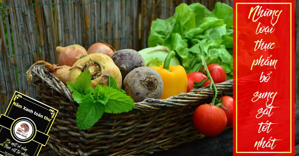 Các loại thực phẩm bổ sung sắt